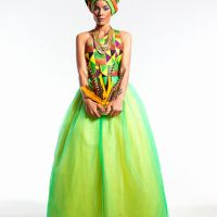 "Prints, Colours & Glamour!!! South African Designer Lindani Ndwandwa Presents ""Fashion Meets Gospel"" On Women's Day"