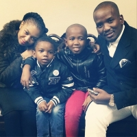 Meet The NcWanes!!! South African Gospel Singer Sfiso & Wife Ayanda Strike A Pose With Children