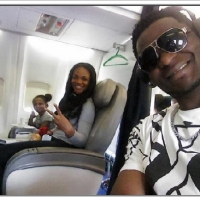 Fun Stuff: Joe Praize & Ada Ehi Selfie-ing On Board A Plane